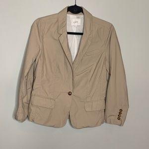 Loft Light Weight Ruffle Back Jacket Blazer